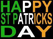Happy St Patricks Day Illustration poster