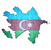 Постер, плакат: Azerbaijan Territory With Flag