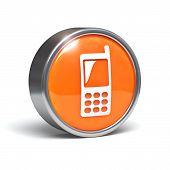 Teléfono móvil - botón 3D