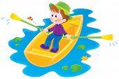 Boating boy
