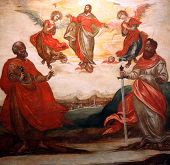 Ascension of Christ with St. Peter and St.  Paul