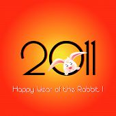 Happy Year of the Rabbit greeting card