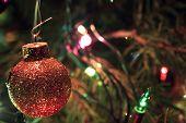 Gold-Glitter Ball Ornament