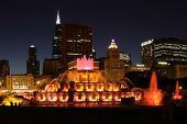 Buckingham Fountain Zentrum