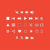 Постер, плакат: Player Buttons vector set