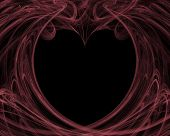 Valentine Background In Pink And Black
