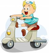 Kid On A Scooter