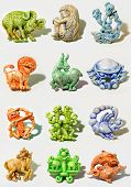 image of zodiac sign  - all horoscope signs sculpted in cartoon style - JPG