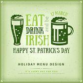 Beer Party Invitation, Irish Typography Emblem poster