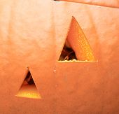 picture of jack-o-laterns-jack-o-latern  - close up of a jack o - JPG