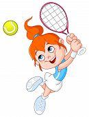 Постер, плакат: Теннис девочка