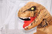 dinosaur. dinosaur costume  poster