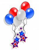 Patriotic American Balloons And Stars