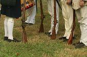 Inspecting The Troops--revolutionary War Reenactment