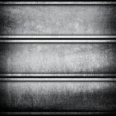 scratched on metal bar background poster