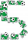 Постер, плакат: Письмо № 5 пять от гранджа футбольное поле и футбольный мяч