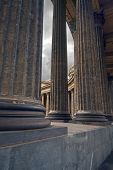 Kazansky Cathedral Through Columns