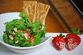 Erdbeere Argula Salat