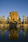 Fountain friendship of people VDNKH Moscow, Russia