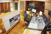 picture of recording studio  - A shot of a professional recording studio - JPG