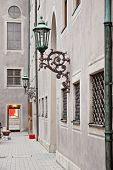 stock photo of munich residence  - Lantern on the wall in famous Munich Residence - JPG