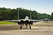 stock photo of f15  - Two fighter jets F15  - JPG