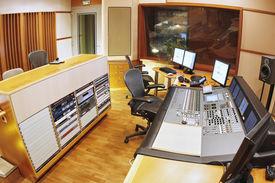 picture of recording studio  - A shot of a professional recording studio - JPG