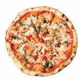 Top View Of Pizza Vegetarian