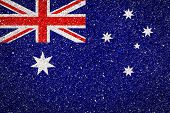 National Flag Of Australia On A Stone Background.the Concept Of National Pride And Symbol Of The Cou poster