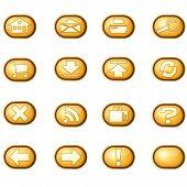 Web Icons A, Yellow