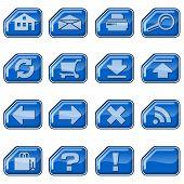 Web Icons B, Blue