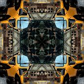 Seamless Symmetrical Pattern Abstract Grunge Structure Texture poster