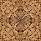 Seamless Symmetrical Pattern Abstract Land Soil Texture poster