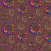 Seamless Background With Original Ovals