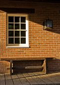 Brick Bench And A Window
