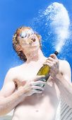 Exploding Champagne Spray