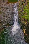 Waterfall In The Heleakala National Park In Hawai
