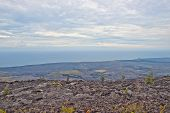 View From Chain Of Craters Road In Big Island Hawaii