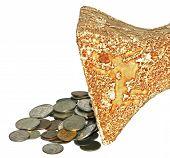 Ánfora y monedas