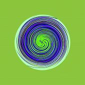 Multicolored Swirl Circle Vector Multicolored Abstract Background poster
