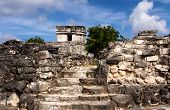 Path To Mayan Buildings