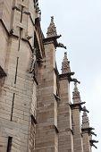 Detail Of  The Saint Chapelle In Paris, France