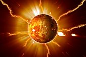 Red Planet Eruptions Storms