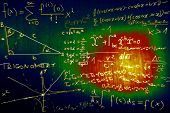 foto of pythagoras  - Science Mathematics Physics Illustration Formulas Schemes  - JPG