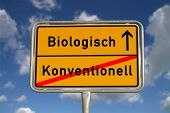 German Road Sign Organic Conventional