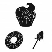 Vector Design Of Sweetness And Product Icon. Set Of Sweetness And Sweet Vector Icon For Stock. poster