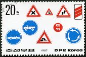 Dpr Korea - 1987: Shows Road Safety