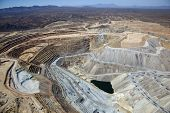 foto of porphyry  - Aerial view of Open Pit Copper Mine near Green Valley Arizona - JPG