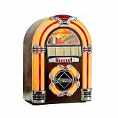 picture of jukebox  - Jukebox classic retro music disks player isolated - JPG