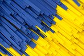 Abstract Yellow And Blue Strip Facture
